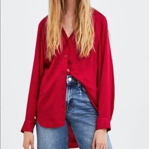 NWT Zara TRF Collection Baggy Shirt